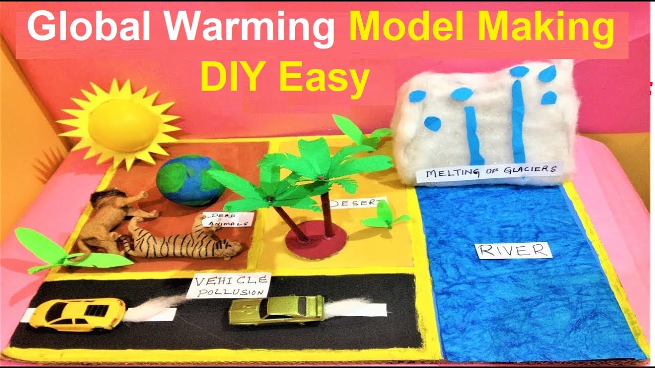 Global Warming Project Model Making Easy Science School Exhibition