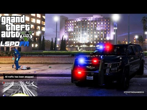 GTA 5 LSPDFR EPiSODE 93 - LET'S BE COPS - CITY PATROL (GTA 5 PC POLICE MODS) UNMARKED SUBURBAN