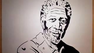 Morgan Freeman Papercut Time-Lapse