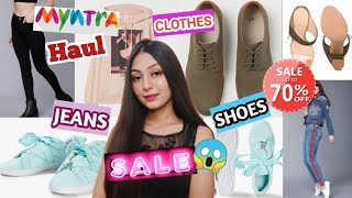 MYNTRA SALE HAUL | I spend Rs.10000😱/upto 50 to 70% OFF| H&M, Puma & much more...