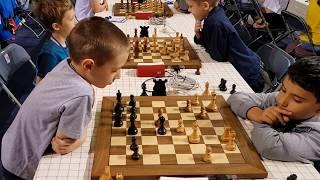 Amirdzhanyan vs  Cherniaiev (8 YO) World Cadet Blitz up 11 Round 2