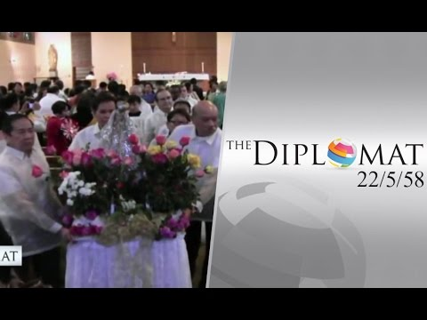 "The Diplomat 22/5/55 : ""Flores De Mayo"" เทศกาลดอกไม้แห่งเดือนพฤษภาคม"