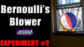 Floating Beach Balls Out a Window Bernoulli Blower ~ Incredible Science