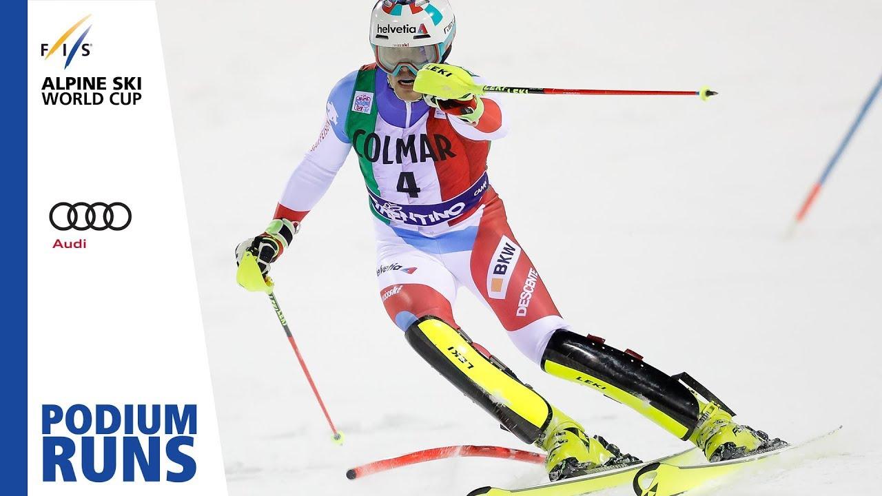 Daniel Yule Men S Slalom Madonna Di Campiglio 1st Place Fis Alpine Youtube
