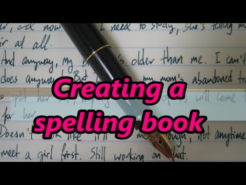 How To Write A Spelling Book