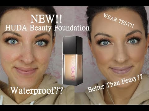 NEW Huda beauty faux filter foundation review and wear test