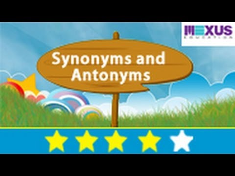 Learn about Synonymous and Antonymous