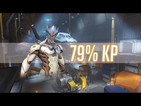 Overwatch - Kabaji 1 Trick Genji to Top 500 79% Kill Participation
