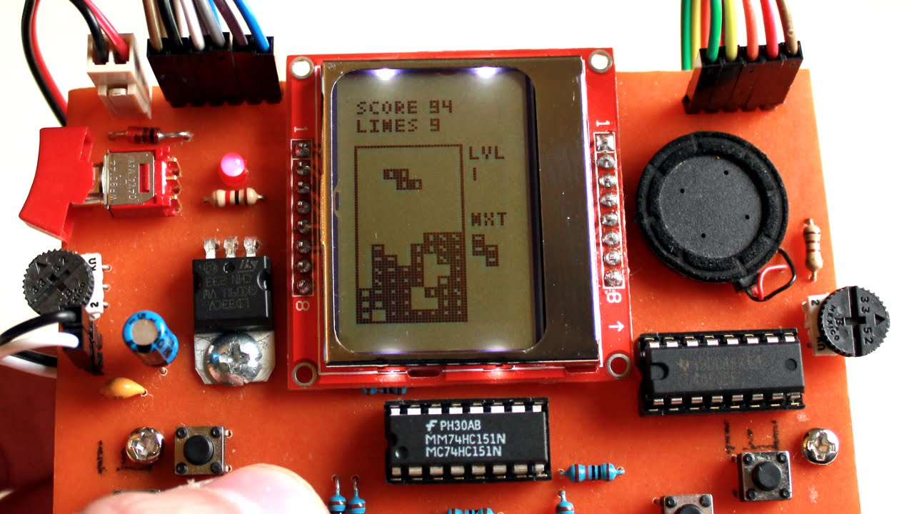 Simple arduino based portable game console youtube