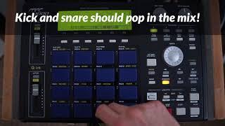 MPC 1000: Creating A Simple Drum Program