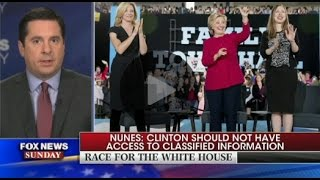 Nunes interview on Hillary Clinton email scandal on Fox News Sunday