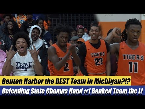 Benton Harbor the BEST Team in Michigan?!? Defending State Champs Hands #1 Ranked River Rouge the L!