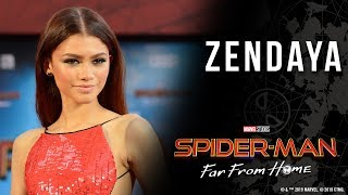 Zendaya finds inspiration for MJ at the Spider-Man: Far From Home world premiere