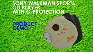 SONY SPORTS WALKMAN PORTABLE CD PLAYER D-SJ301 ORANGE AND WHITE WITH HANDLE