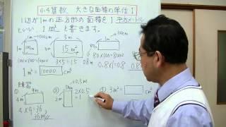 1平方センチメートル大きな面積の単位の説明をしてみました。 ここでは...