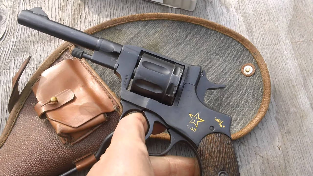 soviet model 1895 nagant revolver tula 1943 mo youtube