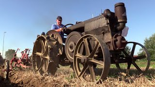 1932 Landini 40 HP testa calda a vasca - Hot bulb start up & plowing | Accensione e aratura