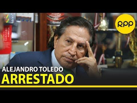 Alejandro Toledo fue arrestado en Estados Unidos por el caso 'Lava Jato'