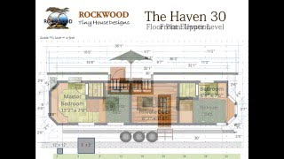 """""""the Haven 30"""" Tiny House Floor Plan And Elevations"""