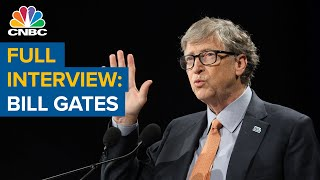 Watch CNBC's full inteŗview with Microsoft co-founder Bill Gates on past pandemic warnings