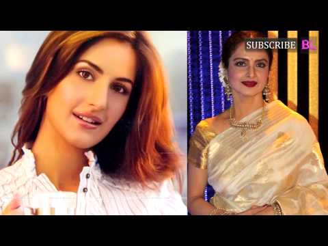 Katrina Kaif bonds with Rekha on the sets of Fitoor