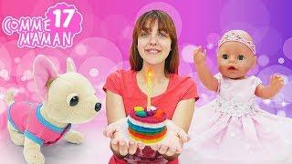 Vidéo en français pour enfants. Show - Comme maman № 17. L'anniversaire de bébé born Emily