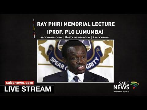 Prof. PLO Lumumba delivers Ray Phiri Memorial Lecture