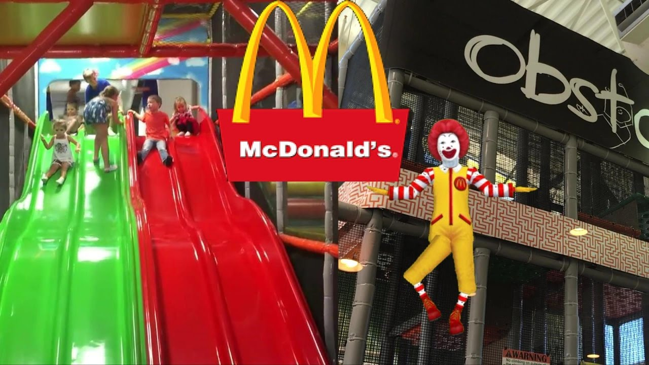 mcdonald 39 s indoor playground happy meal slide play place brooke and azlynn show youtube. Black Bedroom Furniture Sets. Home Design Ideas