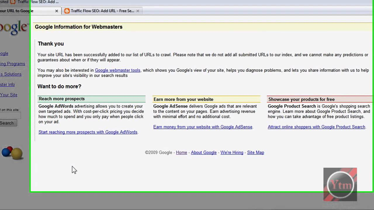 How To Submit Your WebSite To Google Search Engines Your URL YouTube - YouTube