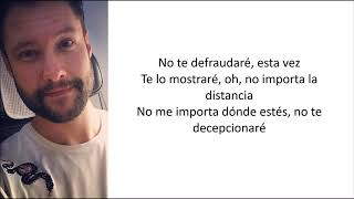 Calum Scott - Won't Let You Down (Letra en español)