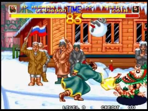 World Heroes 2 Lev 8 Mudman (Mud Men) No Lose Playthrough