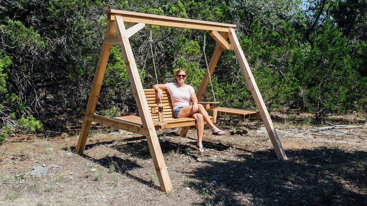 diy porch swing frame