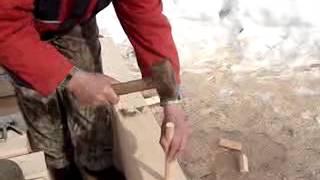 видео Технология строительства дома из бруса