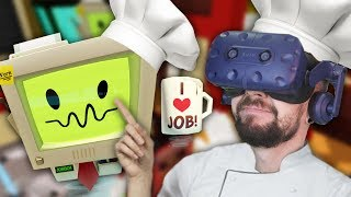 CAN YOU EVEN EAT THIS!? | Job Simulator (HTC Vive Virtual Reality)