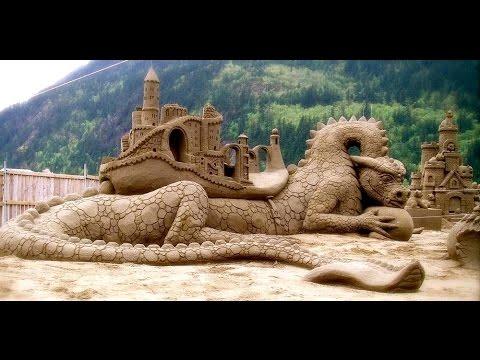 Seni pahat pasir pantai _ skill tinggi _ unik & kreatif