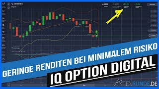 IQ Option Digital - geringe Renditen bei minimalem Risiko