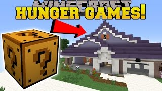 Minecraft: Pat & Jen's Real Home Hunger Games   Lucky Block Mod   Modded Mini Game