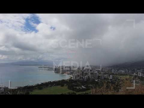 Honolulu City Timelapse Skyline Clouds Roll in