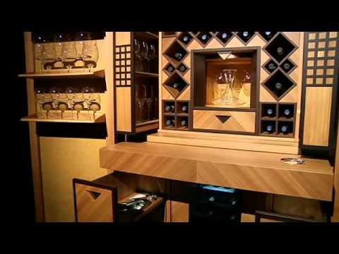 Toncelli Systema Progetto50: Mobile Cantina / Cellar Unit (Olmo + ...