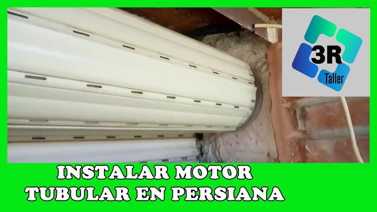 Instalar Motor Tubular A Cualquier Persiana Youtube