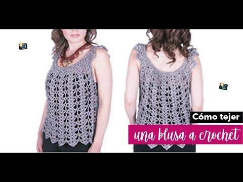 Cómo Tejer Una Blusa Ganchillo Fácil Y Rápido Yo Tejo Con Laura Cepeda Youtube