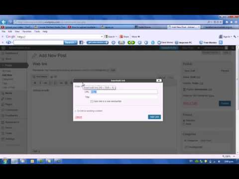How to attach a weblink to wordpress