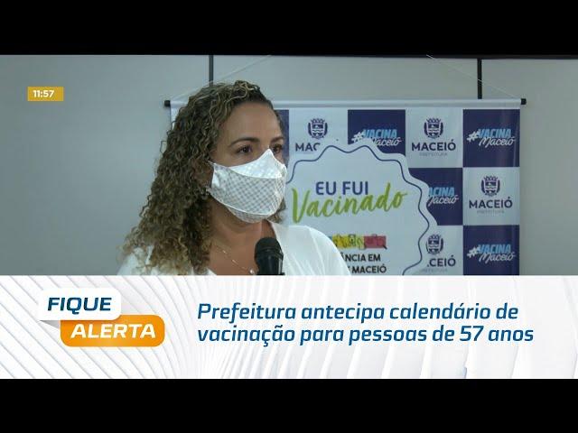 Prefeitura antecipa calendário de vacinação para pessoas de 57 anos com comorbidades