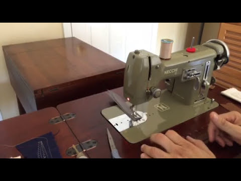 NECCHI Vintage All Metal Sewing Machine Fully Restored YouTube Delectable Old Necchi Sewing Machine