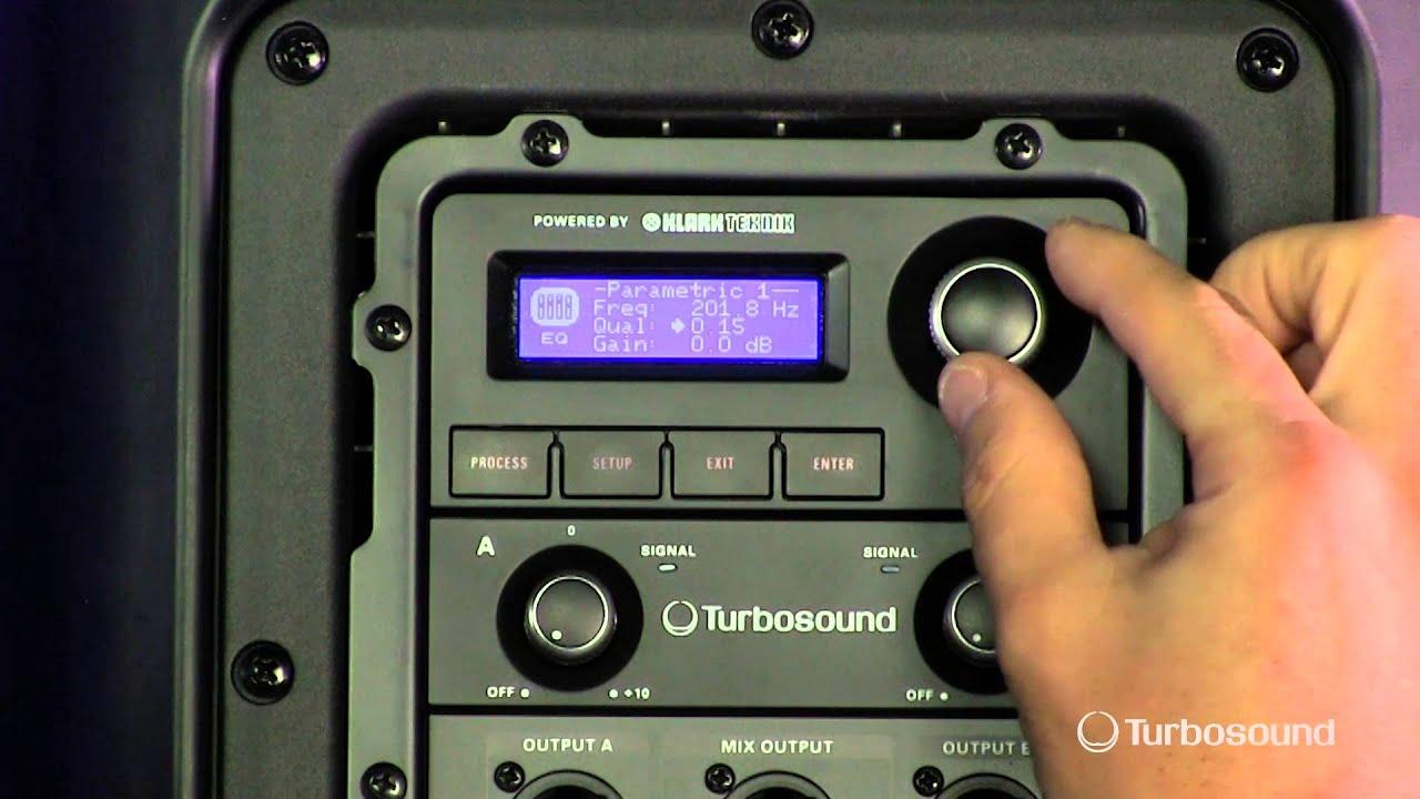 TURBOSOUND iQ Series - EQ Menu - YouTube