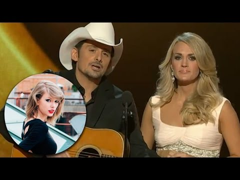 Carrie Underwood & Brad Paisley Diss Taylor Swift at the 2014 CMAs?!