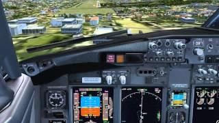 [FSXCockpitView] Garuda Indonesia Boeing 737-800NG PK-GEP Landing Runway 09 WARJ Adisutjipto