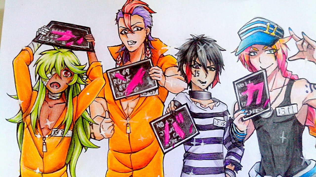 Wallpaper Hitoshi Neko Girls Speed Drawing Nanbaka Youtube