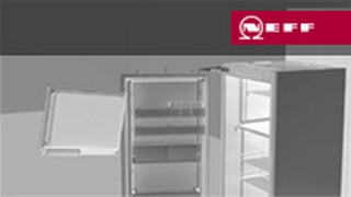 Gefrierfachtür innen Türanschlagwechsel - Montageanleitung für Neff FreshSafe Kühlschränke