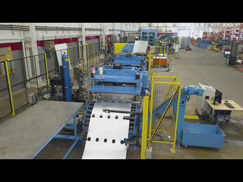 Samco Machinery Pre- punched, Pre-notched and Non-skid Metal Deck Rollforming Line